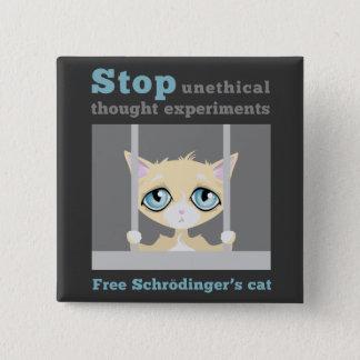 Free Schrodinger's Cat 15 Cm Square Badge
