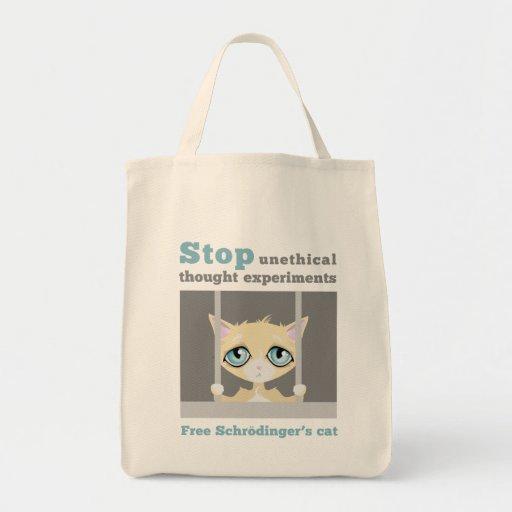 Free Schrodinger's Cat Canvas Bags