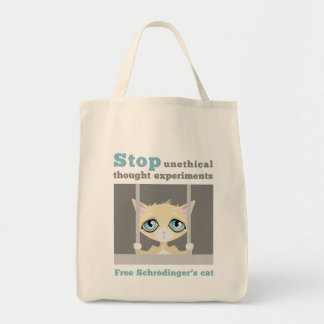 Free Schrodinger's Cat Grocery Tote Bag