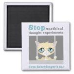 Free Schrodinger's Cat Square Magnet