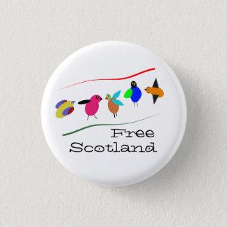 Free Scotland Cartoon Bird Pinback 3 Cm Round Badge