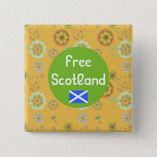 Free Scotland Dandelion Art Pattern Badge