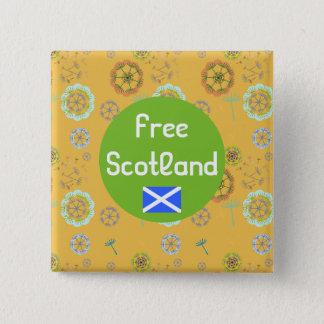 Free Scotland Dandelion Art Pattern Badge