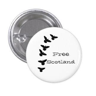 Free Scotland Flying Pigeons Pinback 3 Cm Round Badge