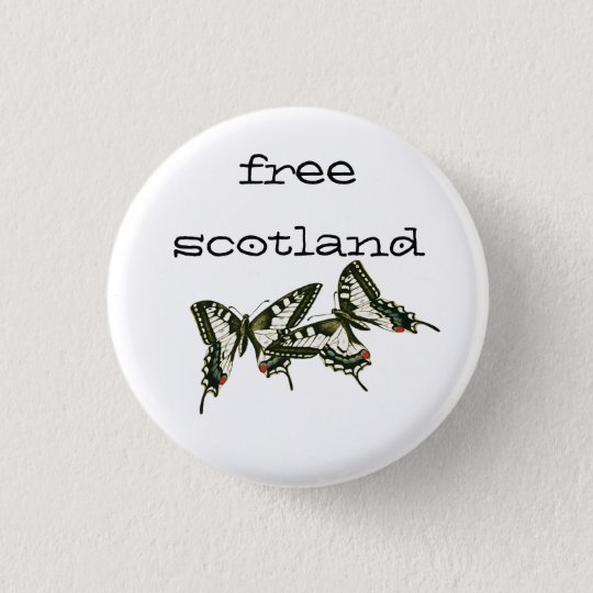 Free Scotland Swallowtail Butterflies Pinback 3 Cm Round Badge