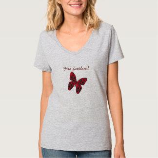 Free Scotland Tartan Butterfly T-Shirt