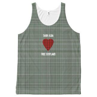 Free Scotland William Wallace Heart Tartan All-Over Print Tank Top