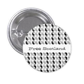 Free Scotland Yin Yang Balance Button Badge