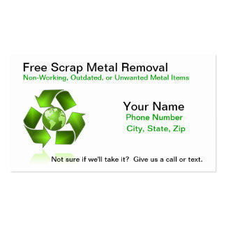 Free Scrap Metal Removal Pack Of Standard Business Cards