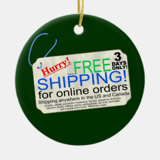 Free Shipping Exclusions Christmas Ornament