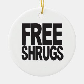 Free Shrugs Christmas Ornament