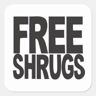 Free Shrugs Square Sticker