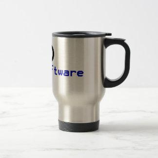 Free software - copyleft travel mug