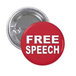 Free Speech 3 Cm Round Badge