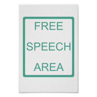 Free Speech Area Poster