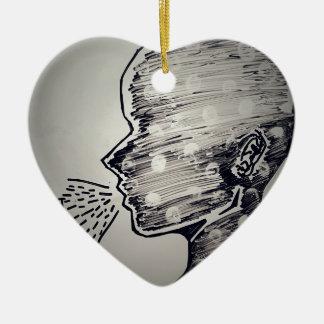 Free Speech Ceramic Heart Decoration