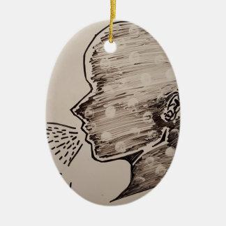 Free Speech Ceramic Oval Decoration