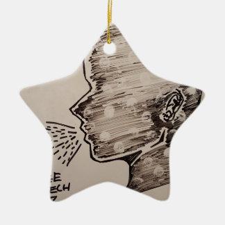 Free Speech Ceramic Star Decoration