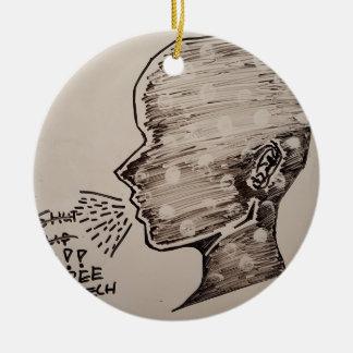 Free Speech Round Ceramic Decoration