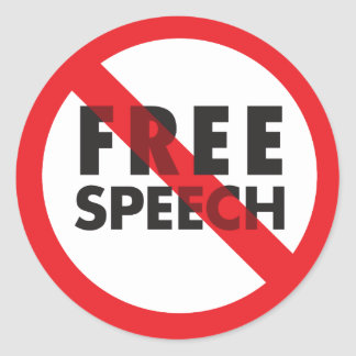 FREE SPEECH ROUND STICKER