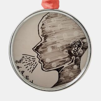 Free Speech Silver-Colored Round Decoration