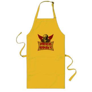 Free Spirit Biker T-shirts and Gifts Long Apron