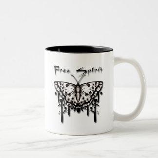 Free Spirit Butterfly Two-Tone Coffee Mug