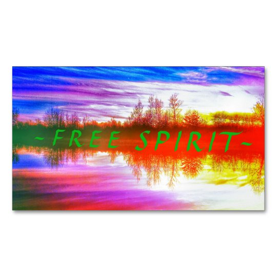 FREE SPIRIT Magnets Magnetic Business Cards