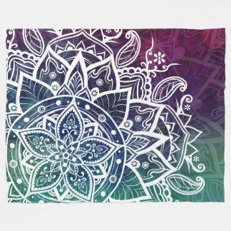 Free Spirit Mandala Purple Blue Green Fleece Blanket