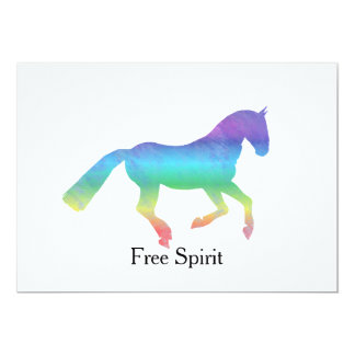 Free Spirit Painted Horse 13 Cm X 18 Cm Invitation Card