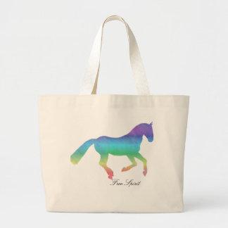 Free Spirit painted Horse Jumbo Tote Bag