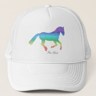 Free spirit painted horse trucker hat