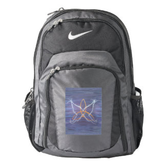 Free-Spirit Purple Butterfly Triquetra Backpack