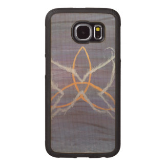 Free-Spirit Purple Butterfly Triquetra Wood Phone Case
