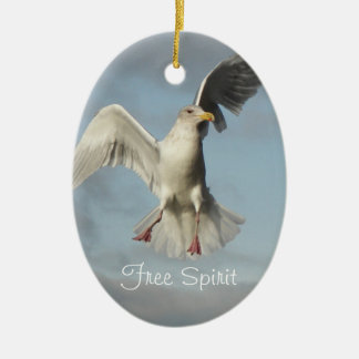 Free Spirit Seagull Photo Christmas Ornament