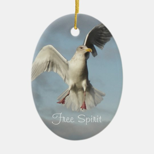 Free Spirit Seagull Photo Christmas Ornament