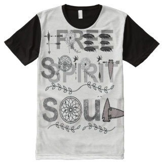 Free Spirit & Soul All-Over Print T-Shirt
