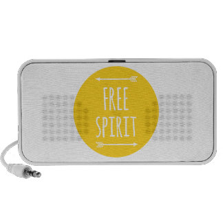 free spirit, word art, text design iPhone speakers
