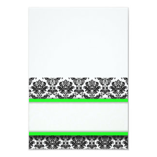 Free Standing Lime Damask Place Cards 9 Cm X 13 Cm Invitation Card