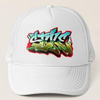 free style graffiti trucker hat
