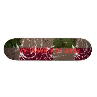Free style skateboard deck