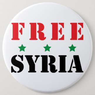 FREE SYRIA 6 CM ROUND BADGE