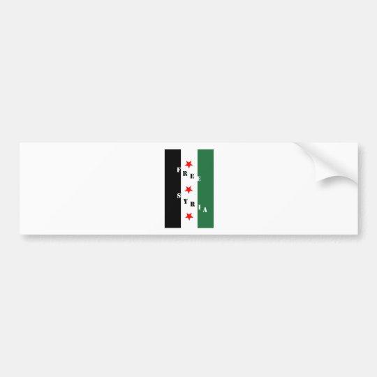 Free Syria Bumper Sticker