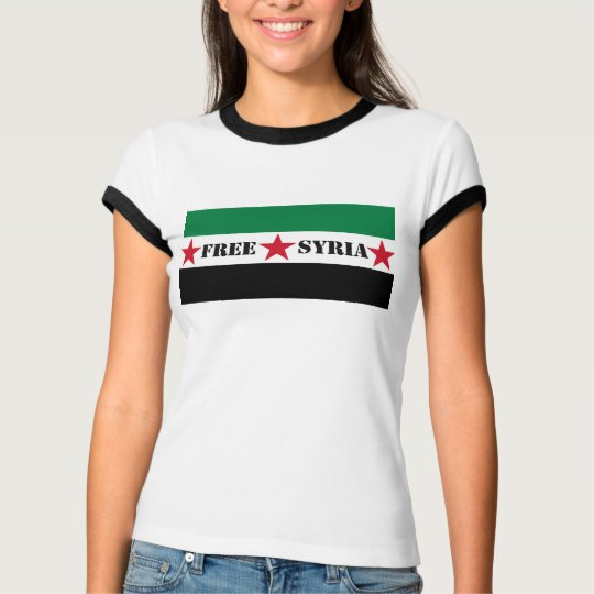 Free Syria Flag Ladies' tee