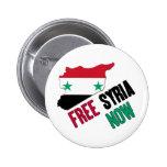 Free Syria Now 6 Cm Round Badge
