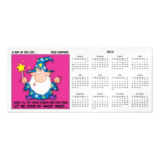 Free Tech Support 2016 Calendar Magnetic Invitations
