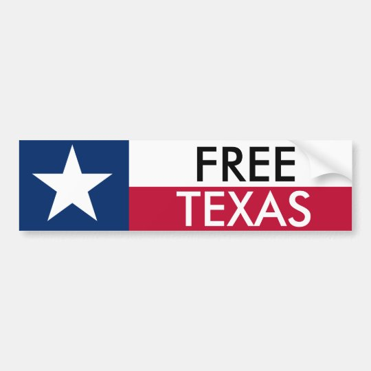 Free Texas Bumper Sticket Bumper Sticker