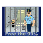 Free the 99% postcards