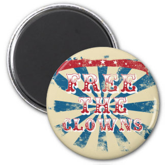 Free the clowns magnet