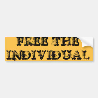 FREE THE INDIVIDUAL BUMPER STICKER